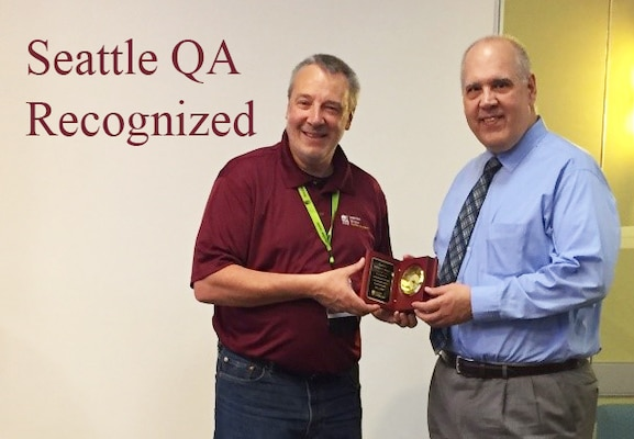 William Meyer, a Defense Contract Management Agency Seattle quality assurance specialist, was recently selected as runner-up for inspector of the year in the 2017 American Society for Quality awards. (Photo courtesy of William Meyer)
