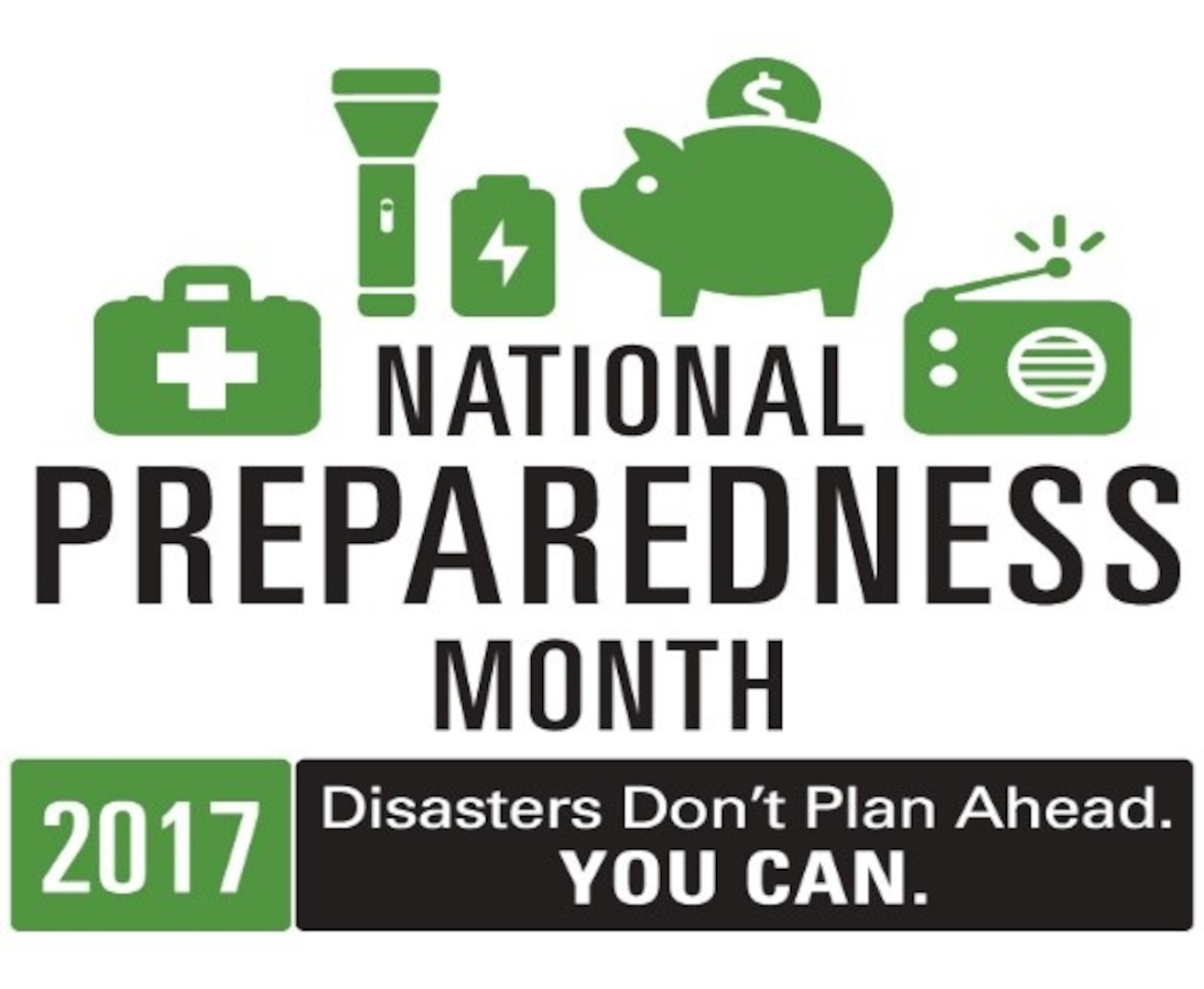 September is National Preparedness Month, sponsored by the Federal Emergency Management Agency. During this month, Defense Contract Management Agency personnel are encouraged to take steps to prepare for emergencies in their homes, businesses, schools and communities. (Graphic courtesy of the Department of Homeland Security)