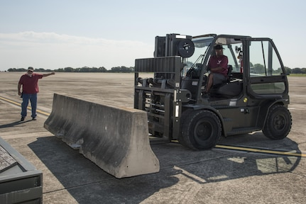 JBSA-Randolph's role in Hurricane Harvey relief efforts includes pre-positioning of supplies like water, meals, blankets and other resources closer to the affected areas. (U.S. Air Force photos by Senior Airman Stormy Archer)
