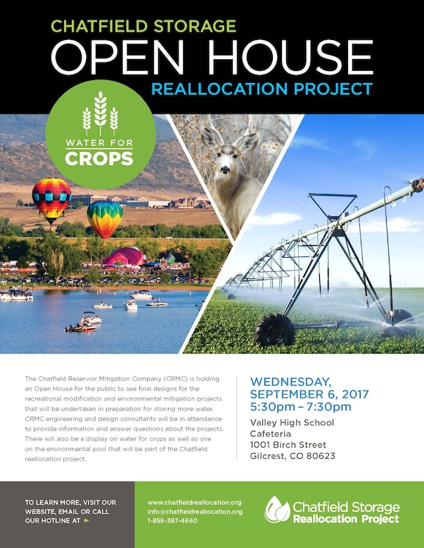 Chatfield Storage Reallocation Project- Open House Flyer