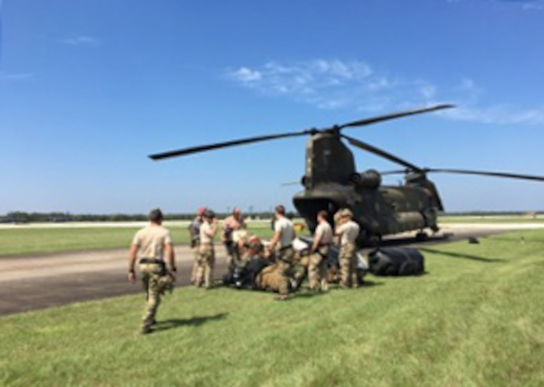 Davis-Monthan Air Force Base Airmen deployed Aug. 29, 2017, to southeast Texas for Hurricane Harvey rescue efforts.
