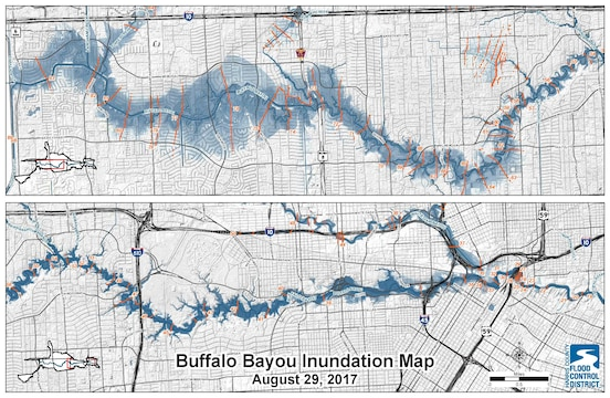 Buffalo Bayou Inundation Map