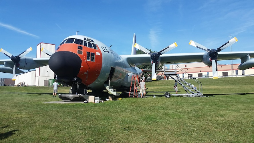 Airmen come together to improve LC-130 static display