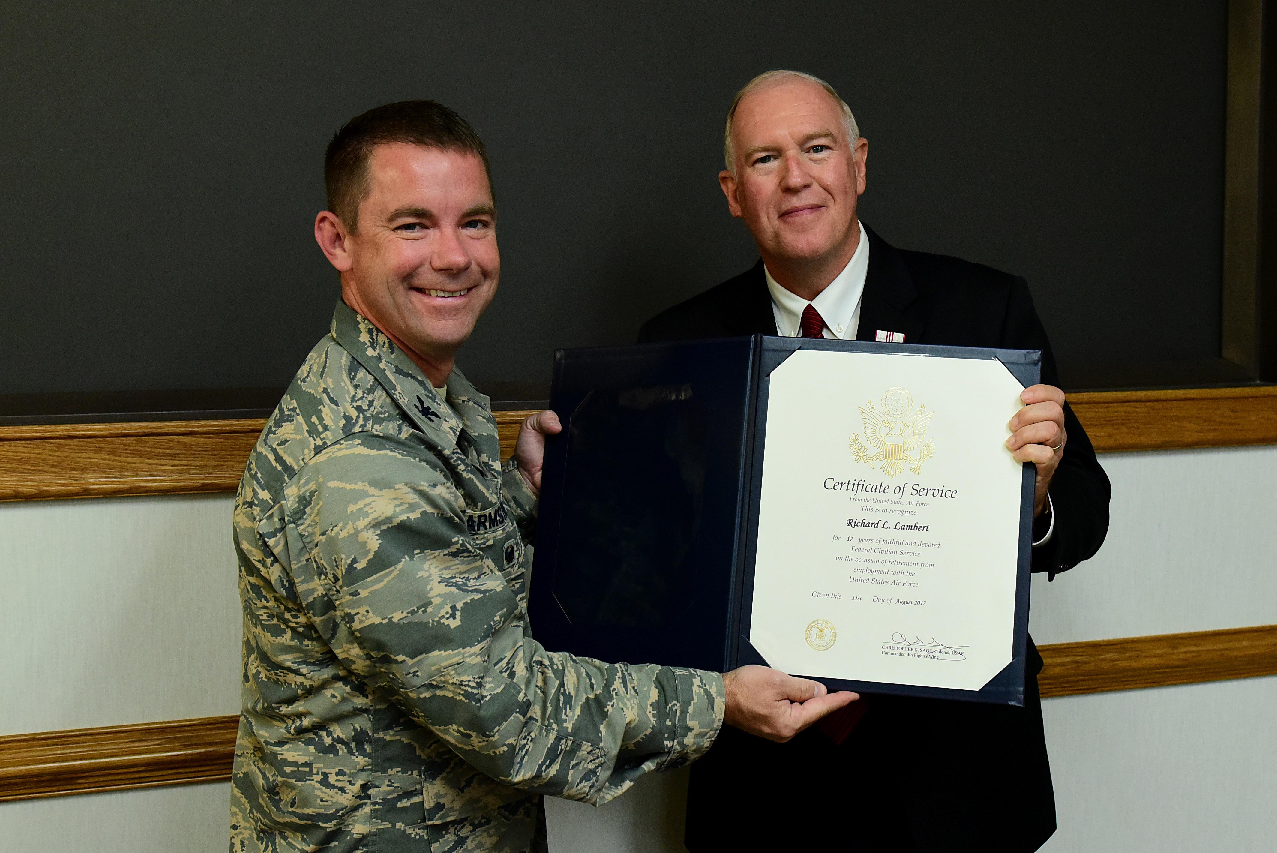 Mr. Lambert retires with F-15E flight and 'Eagle bite'
