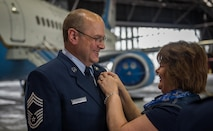 Chief Master Sgt. Treakle retires after 36 years of service.