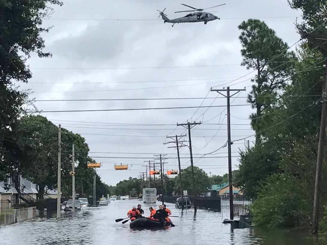 123rd STS conducts personnel rescue in Port Arthur, Texas.