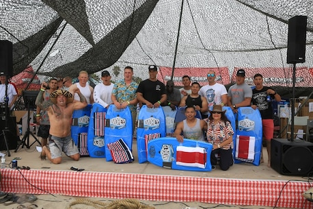 On 12 August 2017, the Marines, Sailors and families of 3d Assault Amphibian Battalion enjoyed some fun in the sun during the annual Gator Bash celebration. Service members and their families competed for thousands of dollars of donated items in watermelon eating contests, dance