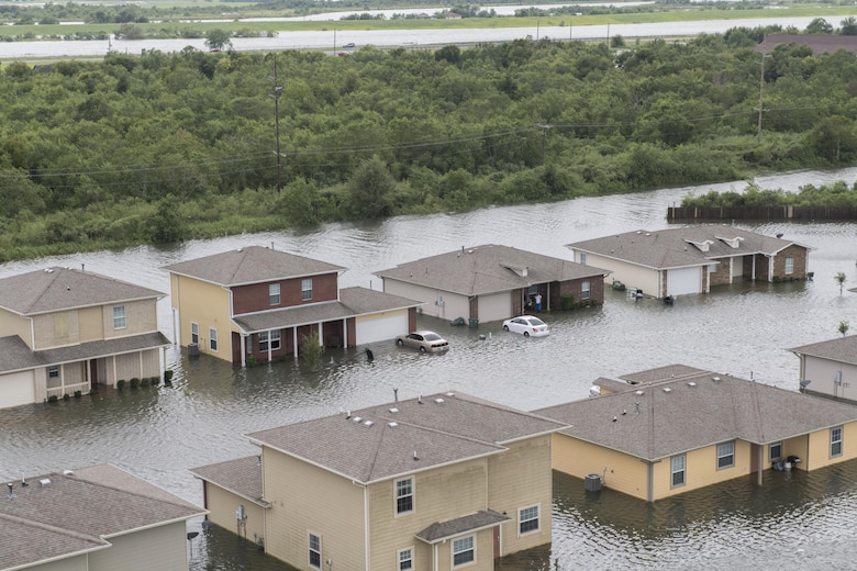 Hurricane Harvey left streets and houses flooded after making landfall.