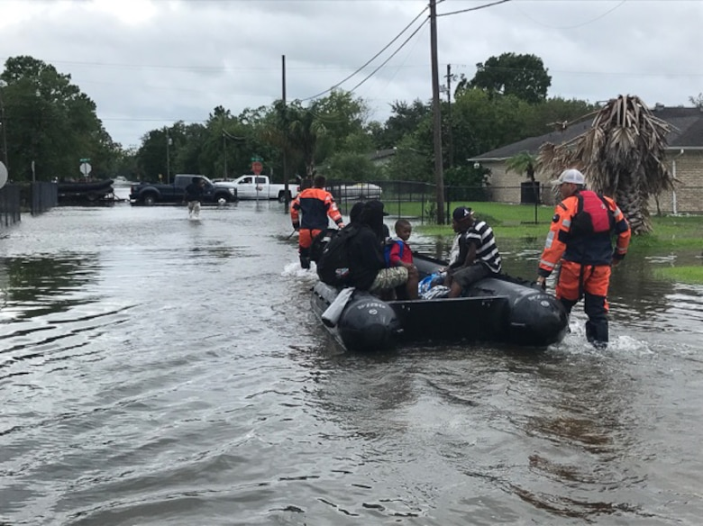 The 123rd STS conducts rescue and recovery operations during Hurricane Harvey.