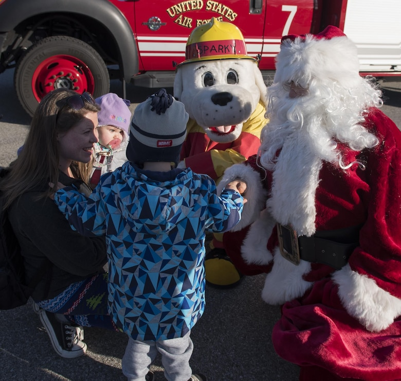 Santa and Sparky introduce themselves