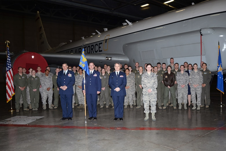 Lt. Col. Jed Snarr assumed command of the 49th Information Squadron during a ceremony held in the Bennie L. Davis Maintenance Facility at Offutt Air Force Base, Neb.