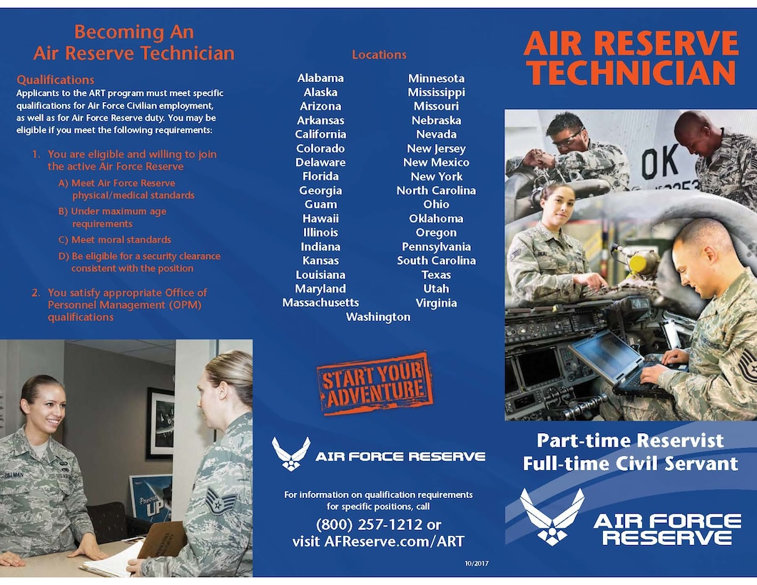 Currently, there are 1,600 Air Reserve Technician positions available within the Air Force Reserves.