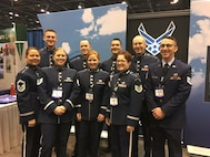 Members of the USAF Band attend the Midwest Band and Orchestra Clinic in Chicago, IL