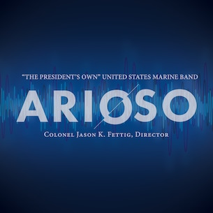 Arioso is the Marine Band's 33rd educational recording and features Johann Sebastian Bach's Fantasia and Fugue in C minor, BWV 537, arranged by Edward Elgar and transcribed by Capt. Ryan Nowlin; Gustav Holst's Suite in F for Military Band, Opus 28, No. 2; Jonathan Leshnoff's Clarinet Concerto, Nekudim, featuring guest soloist Ricardo Morales; Joseph Schwantner's and the mountains rising nowhere; and James Stephenson's Symphony No. 2, Voices. Conducted by Marine Band Director Col. Jason K. Fettig