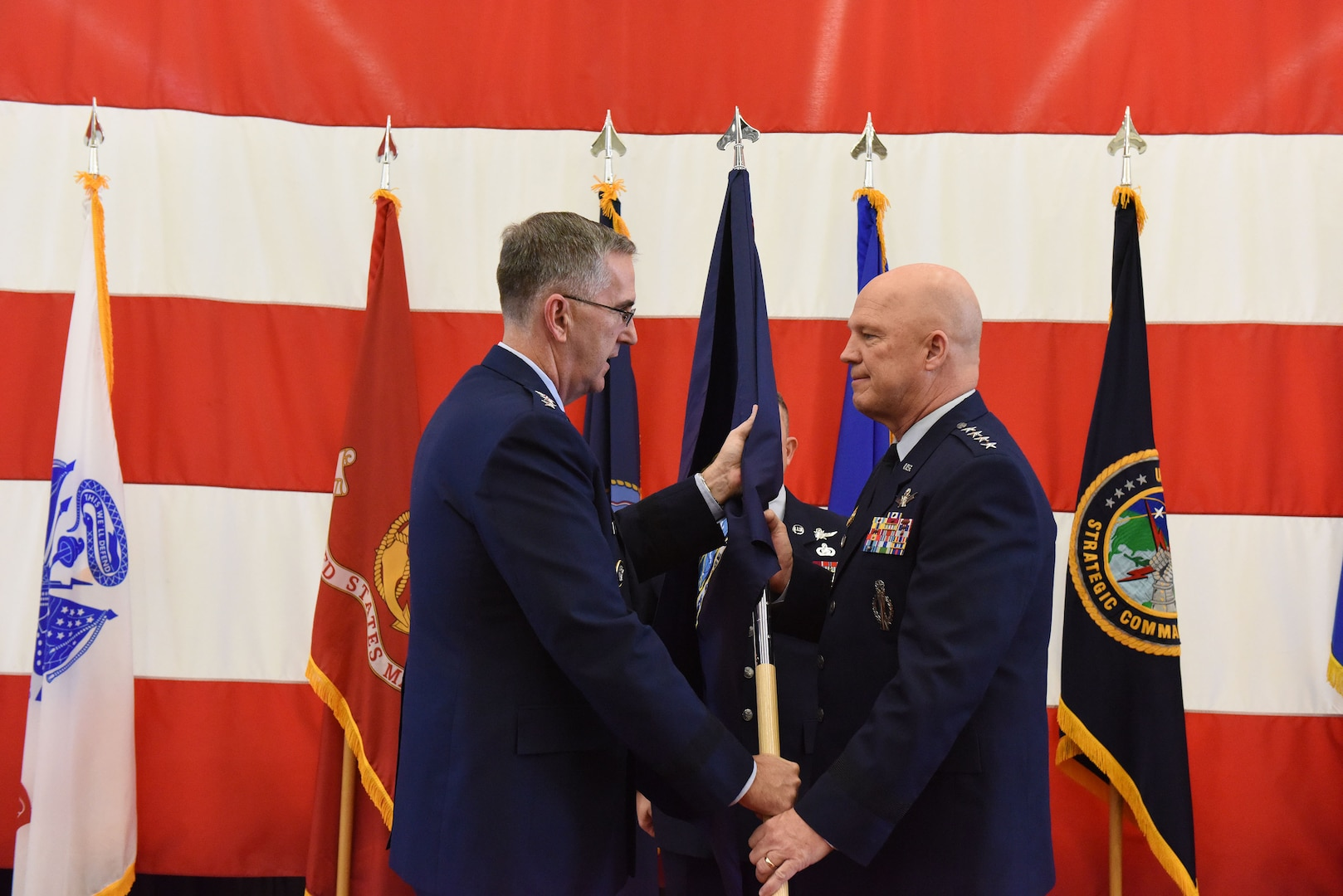 Air Force Gen. Jay Raymond, commander of Air Force Space Command, became the Joint Force Space Component Commander, taking operational responsibility for employment of all joint space forces.