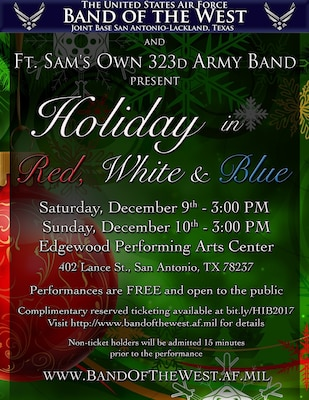 """A """"Holiday in Red, White and Blue"""" is planned for 3 p.m. Dec. 9 and 10 at the Edgewood Performing Arts Center."""