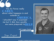 Airman 1st Class Logan Smith, a C-17 loadmaster, was on a Bravo alert schedule in September at Dover Air Force Base, 