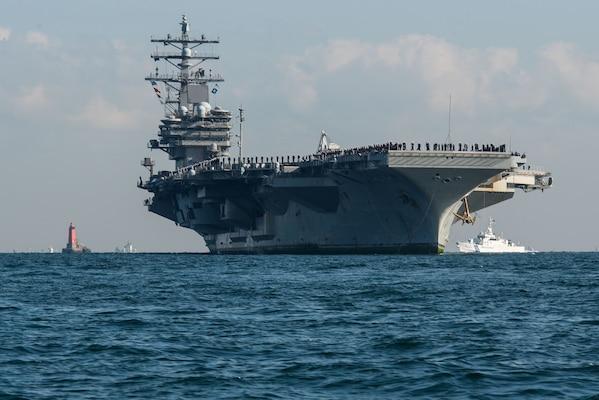 Carrier Strike Group 5 returns to Yokosuka after patrol