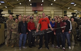 U.S. service members got a visit from Ultimate Fighting Championship fighters, co-founder and MMAjunkie Radio hosts during the MMA Legends Tour at Joint Base Langley-Eustis, Va., Nov. 30 through Dec. 2, 2017.
