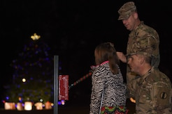 Children and adults alike gathered at Seay Plaza for the 62nd Annual Holiday Tree Lighting celebration at Joint Base Langley-Eustis, Va., Dec. 1, 2017.