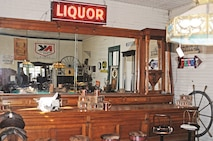 Many objects are available for antique shoppers in Paxico. A bar, originally from the Dakota territories, harkens back to the days of the Wild West.