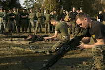 Marines with 2nd Transportation Support Battalion, 2nd Marine Logistics Group came together to compete during the 2nd annual Commander's Cup competition at Camp Lejeune, North Carolina, Dec. 1, 2017.