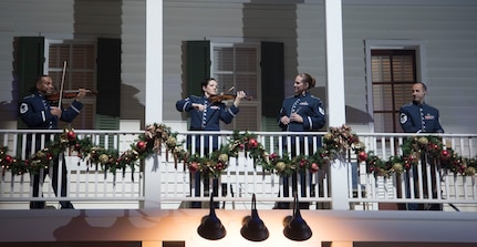 Violins on balcony