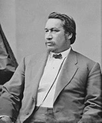IMAGE; U.S. Army Brig. Gen. Ely S. Parker - Adjutant to Union Gen. Ulysses S. Grant during the Civil War - was a Seneca Chief and the first American Indian to serve as Commissioner of Indian Affairs in the Department of Interior.
