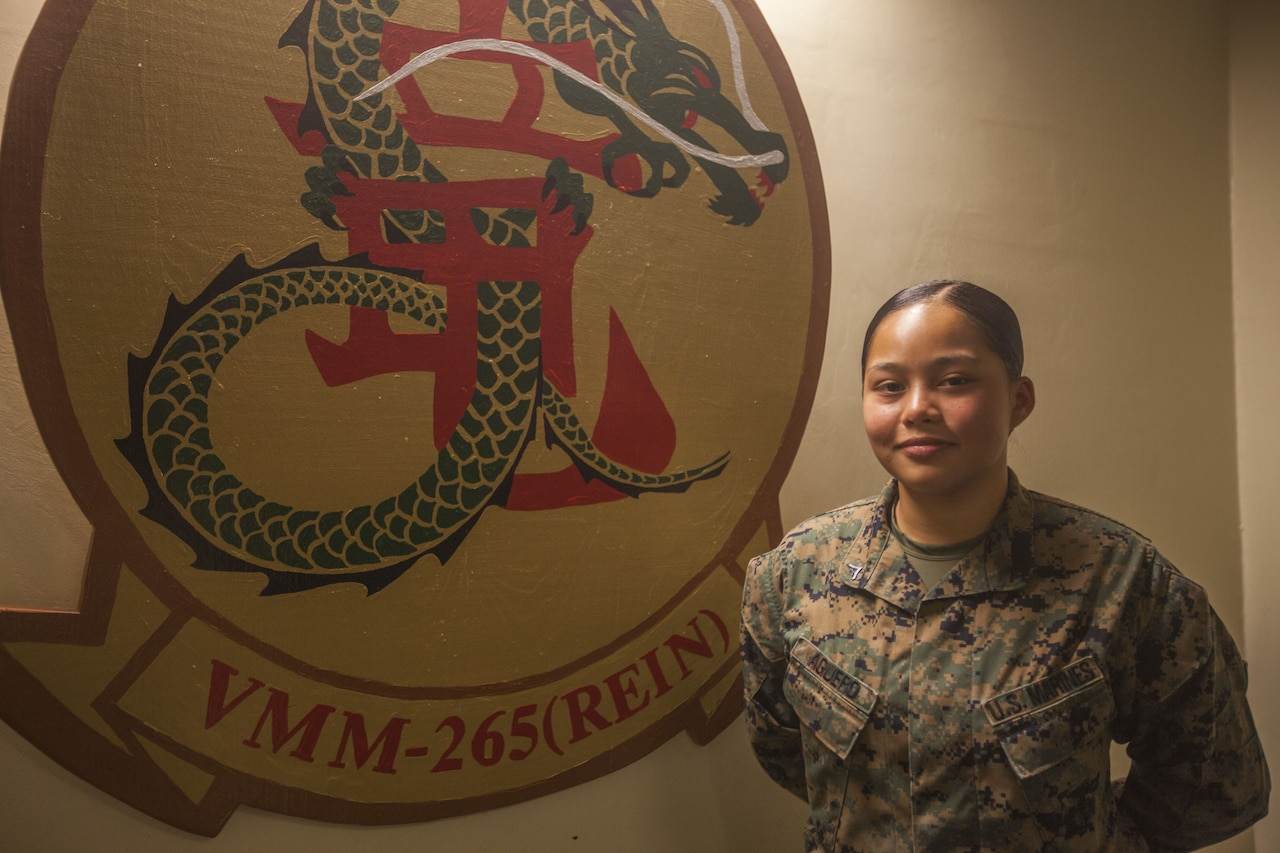 Vivianlee Aguero is a lance corporal in the United States Marine Corps. At 17 she enlisted as an embarkation specialist from her home in Guam.
