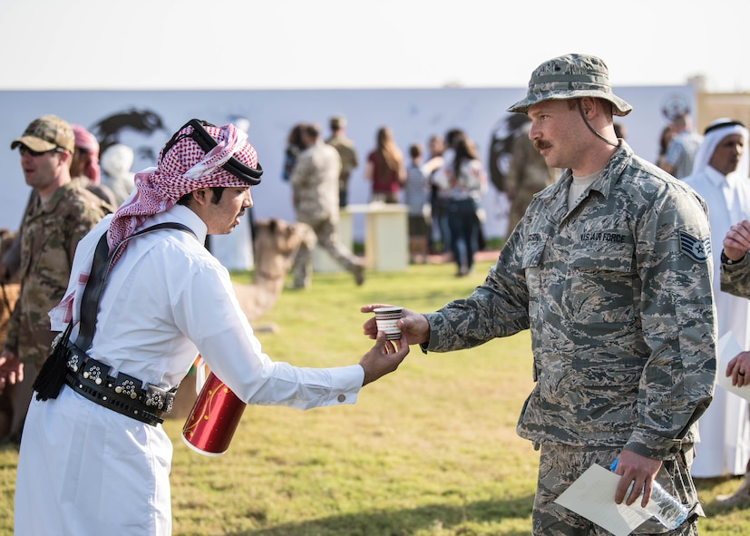 Qatar Emiri Air Force hosts a cultural exchange for coalition partners and families