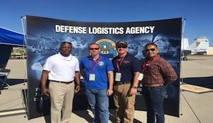 From left to right: Navy Capt. Jerome R. White, commander, DLA Distribution San Diego, California; Navy Capt Scott T. Mulvehill, commanding officer, Naval Base Coronado; Navy Capt Timothy J. Slentz, executive officer, Naval Base Coronado; Navy Command Master Chief Harlan B. Patawaran, Naval Base Coronado.