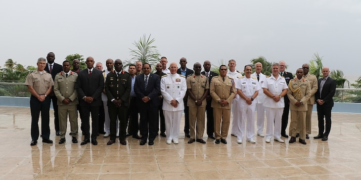 Group photo of Senior leaders attending the 2017 Caribbean Nations Security Conference in Georgetown, Guyana