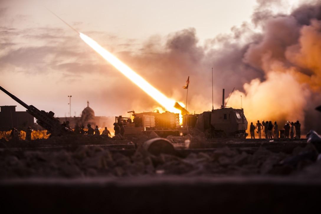 Iraqi forces fire rockets in Iraq