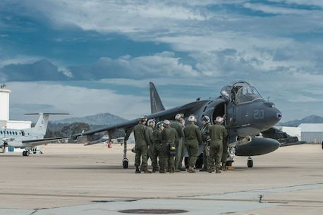 AV-8B Harrier II gets ready for Winter Fury 18