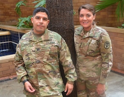 Army Capt. Katie Ann Blanchard and Army Capt. John Arroyo are survivors of separate incidents of workplace violence.