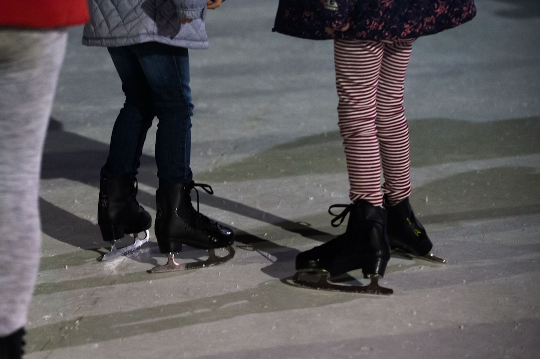 Skating and snow were the word of the day for those who enjoyed Winterfest held at the Edwards Main Exchange parking lot Dec. 1. (U.S. Air Force photo by Jennifer Correa)