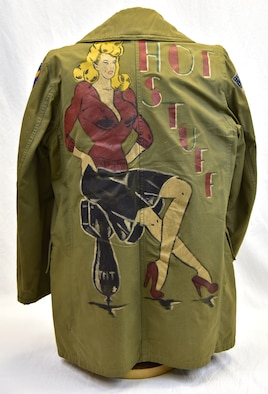 Plans call for this artifact to be displayed near the B-17F Memphis Belle™ as part of the new strategic bombardment exhibit in the WWII Gallery, which opens to the public on May 17, 2018. Field jacket worn by B-24 tail gunner Sgt Larry Gardner.  During his tour, he was shot down and rescued by Italian partisans.
