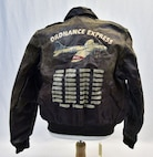 Plans call for this artifact to be displayed near the B-17F Memphis Belle™ as part of the new strategic bombardment exhibit in the WWII Gallery, which opens to the public on May 17, 2018. A-2 jacket worn by Delbert Kale, an Eighth Air Force pilot who flew 35 combat missions from September 1944 to March 1945.