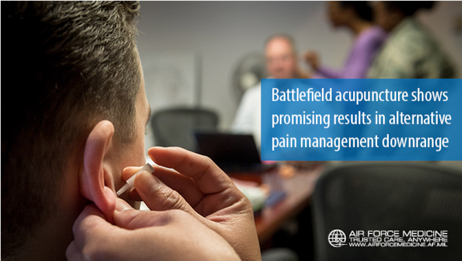 Battlefield acupuncture shows promising results in alternative pain management downrange