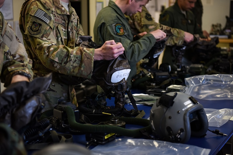 193rd Special Operations Squadron conducts in-flight Aircrew Eye Respiratory Protection training.