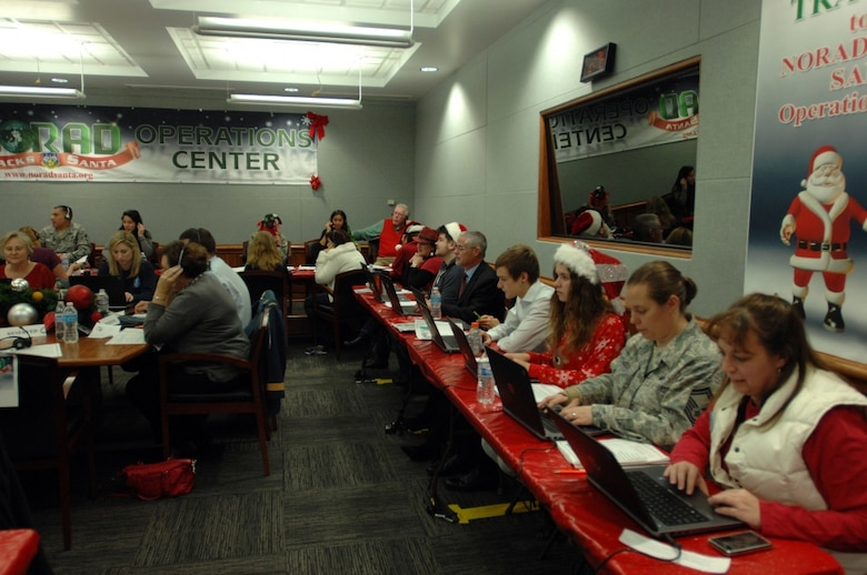 The North American Aerospace Defense Command, or NORAD, at Peterson Air Force Base, Colo., tracks Santa's yuletide journey.