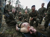 U.S. Navy hospital corpsmen and doctors with Charlie Company, 2nd Medical Battalion participated in Operation Cold Turkey at Camp Lejeune, North Carolina, Dec. 4-7, 2017.