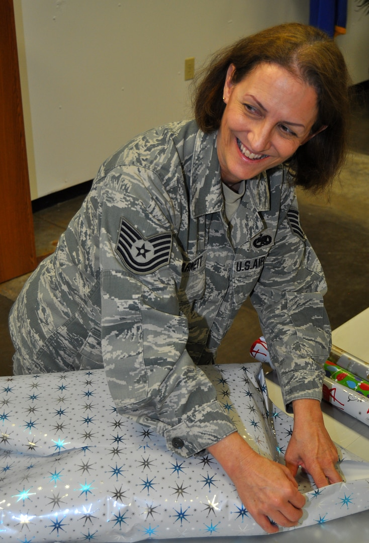 Over 100 presents were given for the sponsored families by 433rd AW Citizen Airmen and donations valued at more than $2,000.