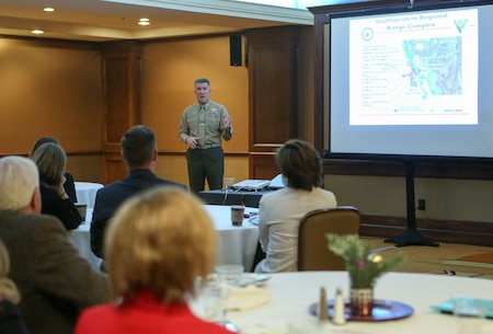 MCAS Miramar Commanding Officer speaks to San Diego city managers
