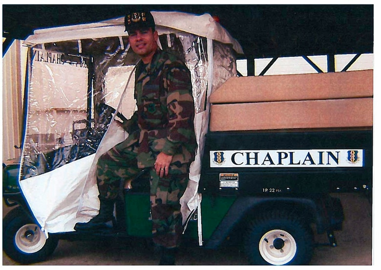 Chaplain Ismael Rodriguez at his first Active Duty base in Eglin Air Force Base, Florida. (Courtesy Photo)