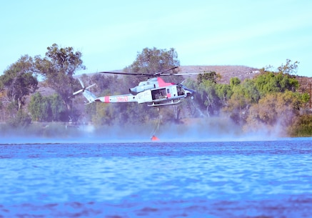3rd MAW supports firefighting in San Diego County