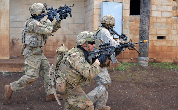 'Cacti' clears the room during squad live fire