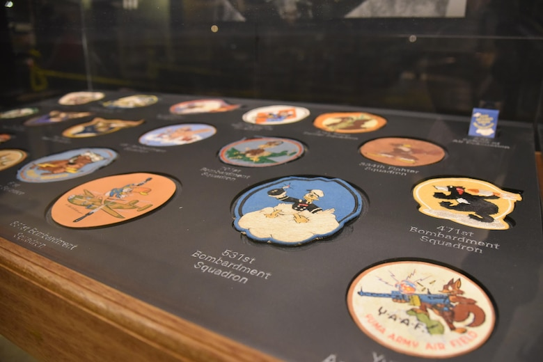 DAYTON, Ohio - The Disney Pins on Wings exhibit in the World War II Gallery at the National Museum of the U.S. Air Force. (U.S. Air Force photo)