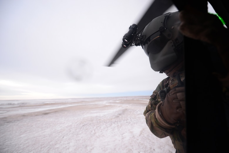 During the exercise, Joint Terminal Attack Controllers from the United Kingdom's Royal Air Force provided B-1 bomber aircrews and UH-1N Huey aviators, tactical information for targets.