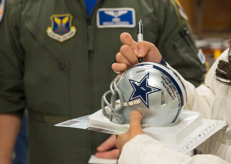 Dallas Cowboy Cheerleaders visit Dyess